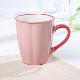 Кружка Доляна «Маршмэллоу», 360 мл, 11,5×7,8×10,7 см, цвет розовый