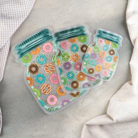 Набор пакетов для хранения сыпучих продуктов «Пончики», 3 шт, 15×10 см, 20×13 см, 24,5×16,5 см, застёжка zip-lock