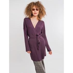 Кардиган женский, цвет фиолетовый, размер 52 (XXL) Ош