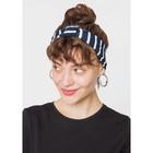 Повязка на голову женская, цвет тёмно-синий/полоска размер 56