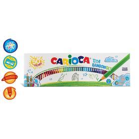 Карандаши пластиковые 50 цветов, CARIOCA TITA RAINBOWSET, шестигранные, в картонной коробке