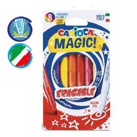Фломастеры 7 цветов + 1 стирающий CARIOCA ERASABLE, стираемые, в картонной коробке с европодвесом