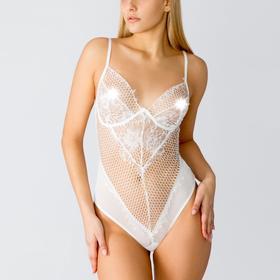 Боди женское эротическое, цвет белый, размер 44 (М)