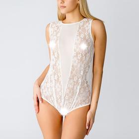 Боди женское эротическое, цвет белый, размер 52 (3XL)