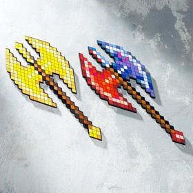 Сувенир деревянный топор берсерка 'Пиксель', 37 см Ош