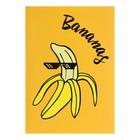 Тетрадь А5, 48 листов клетка Bananas, УФ-лак, полноцвет