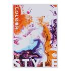 Тетрадь А5, 48 листов Colour style, УФ-лак