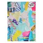 Тетрадь 48 листов клетка Hard school «Коллаж», школьная, мягкая обложка