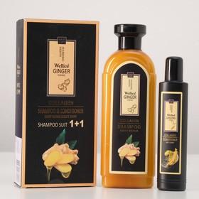 """Набор для волос: шампунь """"Премиум"""" с имбирем 420 мл и кондиционер для волос с женьшенем 100 мл"""