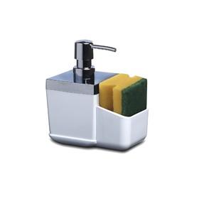 Дозатор с губкой для кухни Toskana, цвет белый