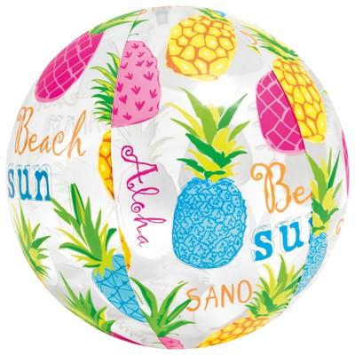 Мяч пляжный «Узоры», d=51 см, от 3 лет, цвета МИКС, 59040NP INTEX - Фото 1
