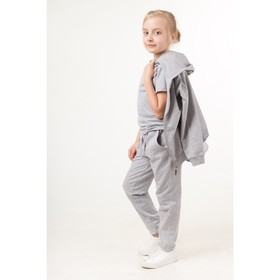 Костюм спортивный для девочки, рост 116 см, цвет серый Ош