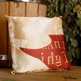 Подушка сувенирная, 22×22 см, мята, можжевельник Ош