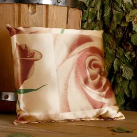 Подушка сувенирная, 22×22 см, мята, лаванда, шалфей, зверобой, роза чайная Ош