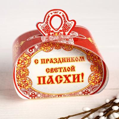 """Пасхальная коробочка """"ХВ"""" церковь, 9 х 7 х 6 см"""
