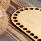 """Заготовка для вязания """"Овал с параллельными сторонами"""", донышко фанера 3 мм, размер 20×10 см - Фото 2"""