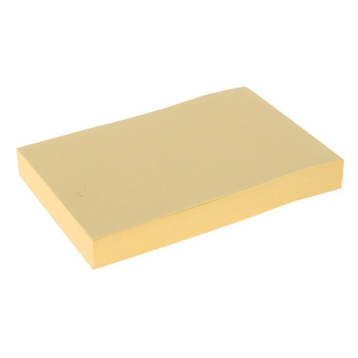 Блок с липким краем 51 мм x 76 мм, 100 листов, пастель, жёлтый