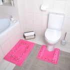 Набор ковриков для ванны и туалета «Ассорти», 2 шт: 46×40, 46×75 см, цвет МИКС