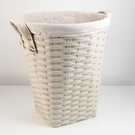 Корзина универсальная плетёная Доляна «Элегант», 39,5×39,5×43,5 см, цвет бежевый