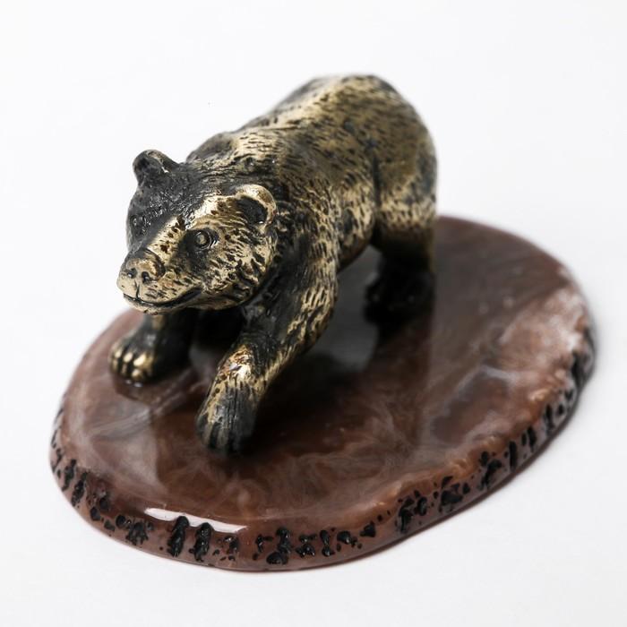 Настольный сувенир Мишка, 5,3 см 7,5 см