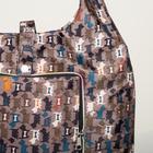 Сумка хозяйственная, складная в кошелёк, отдел на кнопке, цвет серый - Фото 3