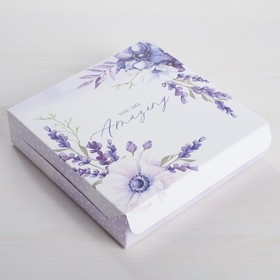 Коробка складная «Для самой замечательной », 14 × 14 × 3,5 см