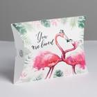 Коробка складная фигурная «Фламинго», 11 × 8 × 2 см
