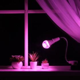 Светильник для растений 12 Вт, 9 мкмоль/с, гибкая ножка 30 см, выкл на корпусе Ош