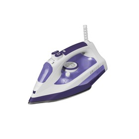 Утюг WILLMARK SI-2232N, 2200 Вт, 300 мл, антипригарная подошва, бело-фиолетовый