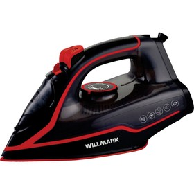 Утюг WILLMARK SI-2467СBP, 2400 Вт, керамическая подошва, 20 г/мин, 210 мл, чёрно-фиолетовый