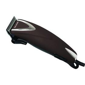 Машинка для стрижки WILLMARK WHC 4613, 10 Вт, 4 насадки, сталь, от сети, коричневая
