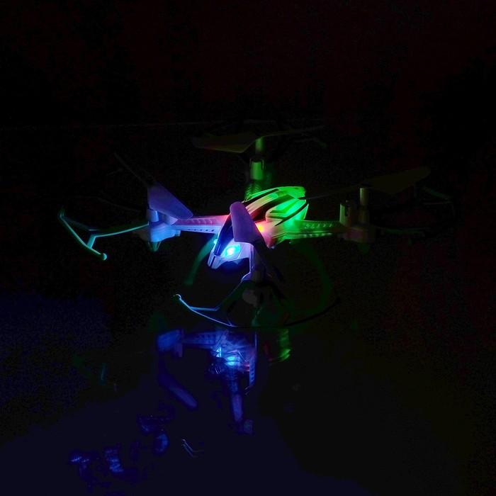 Квадрокоптер радиоуправляемый «SKYDRONE», работает от аккумулятора, МИКС, в пакете