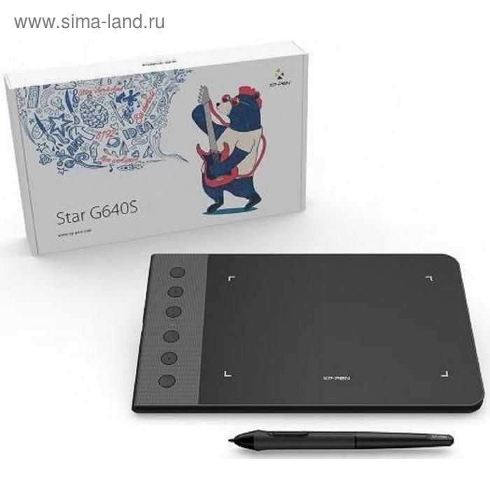 Графический планшет XP-Pen Star G640S, Android, USB, черный