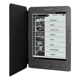 "Электронная книга Digma E656 Cover, 6"", E-Ink Carta, 800x600, 600MHz, 4Гб, microSDHC, серая   479146"