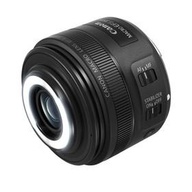 Объектив Canon EF-S IS STM (2220C005), 35мм f/2.8 Macro, черный Ош
