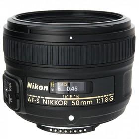 Объектив Nikon AF-S (JAA015DA), 50мм f/1.8