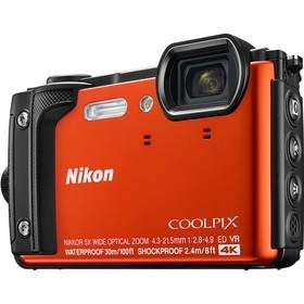 """Фотоаппарат Nikon CoolPix W300, 16мп, 4K, 3"""", 99Мб, SDXC, SD, SDHC, CMOS, WiFi, GPS, оранж"""