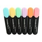 Набор маркеров-текстовыделителей 6 цветов 1-5 мм Schneider. Job, пастельные тона, в прозрачном чехле - Фото 4