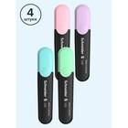 Набор маркеров-текстовыделителей 4 цвета 1-5 мм Schneider. Job, пастельные тона, в прозрачном чехле - Фото 4