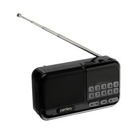 Радиоприемник Perfeo ASPEN, FM+ 87.5-108 МГц, MP3, USB, microSD, Li-ion 1200 мАч, черный Ош
