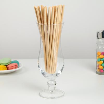 Набор бамбуковых трубочек для коктейлей «Панда», 20×0,3 см - Фото 1