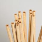 Набор бамбуковых трубочек для коктейлей «Панда», 20×0,3 см - Фото 2