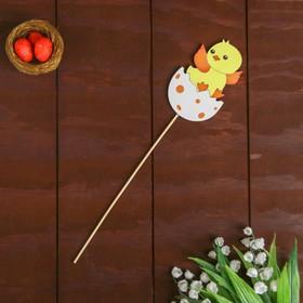 Декор на палочке «Цыплёнок» 0,3×5,5×26 см