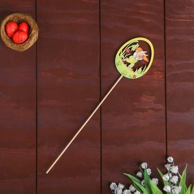 Декор на палочке «Зайчик с морковкой» 0,3×5,5×32 см - Фото 1