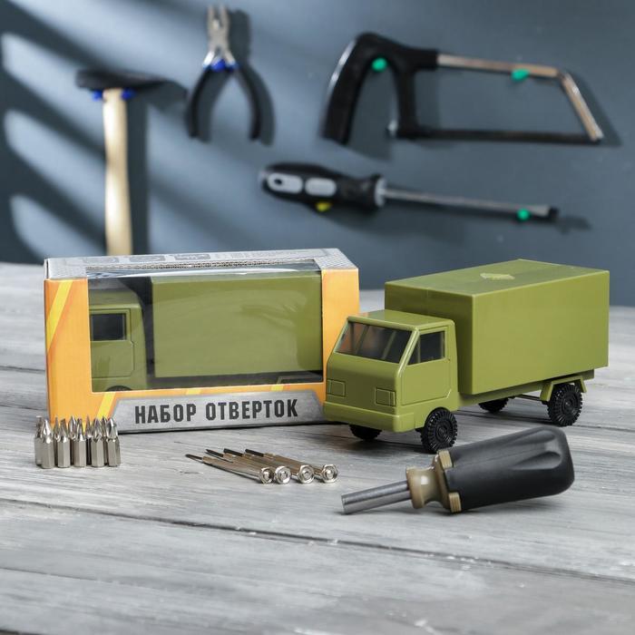 Набор инструментов в грузовике Мастер на все руки, подарочная упаковка, 15 предметов