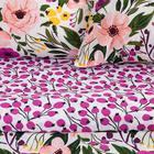 Постельное бельё 1.5 сп Этель Flowers, размер 143х215 см, 150х214 см, 70х70 см-2шт, поплин - Фото 2