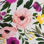 Постельное бельё 1.5 сп Этель Flowers, размер 143х215 см, 150х214 см, 70х70 см-2шт, поплин - Фото 3