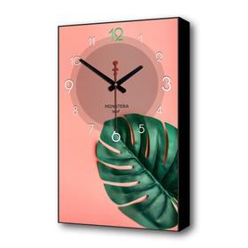 Часы настенные, серия: Природа, 'Лист папоротника', 37х60 см Ош