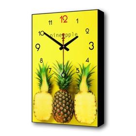 Часы настенные, серия: Кухня, 'Ананасы', 37х60 см Ош
