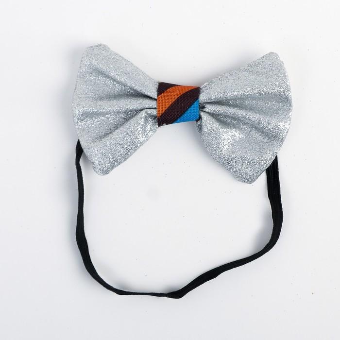 Карнавальная бабочка, тканевая серединка, цвета МИКС